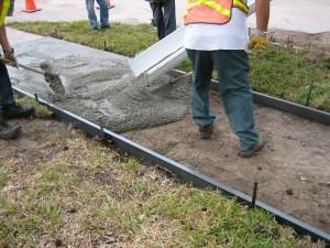 Concrete Sidewalk Pour