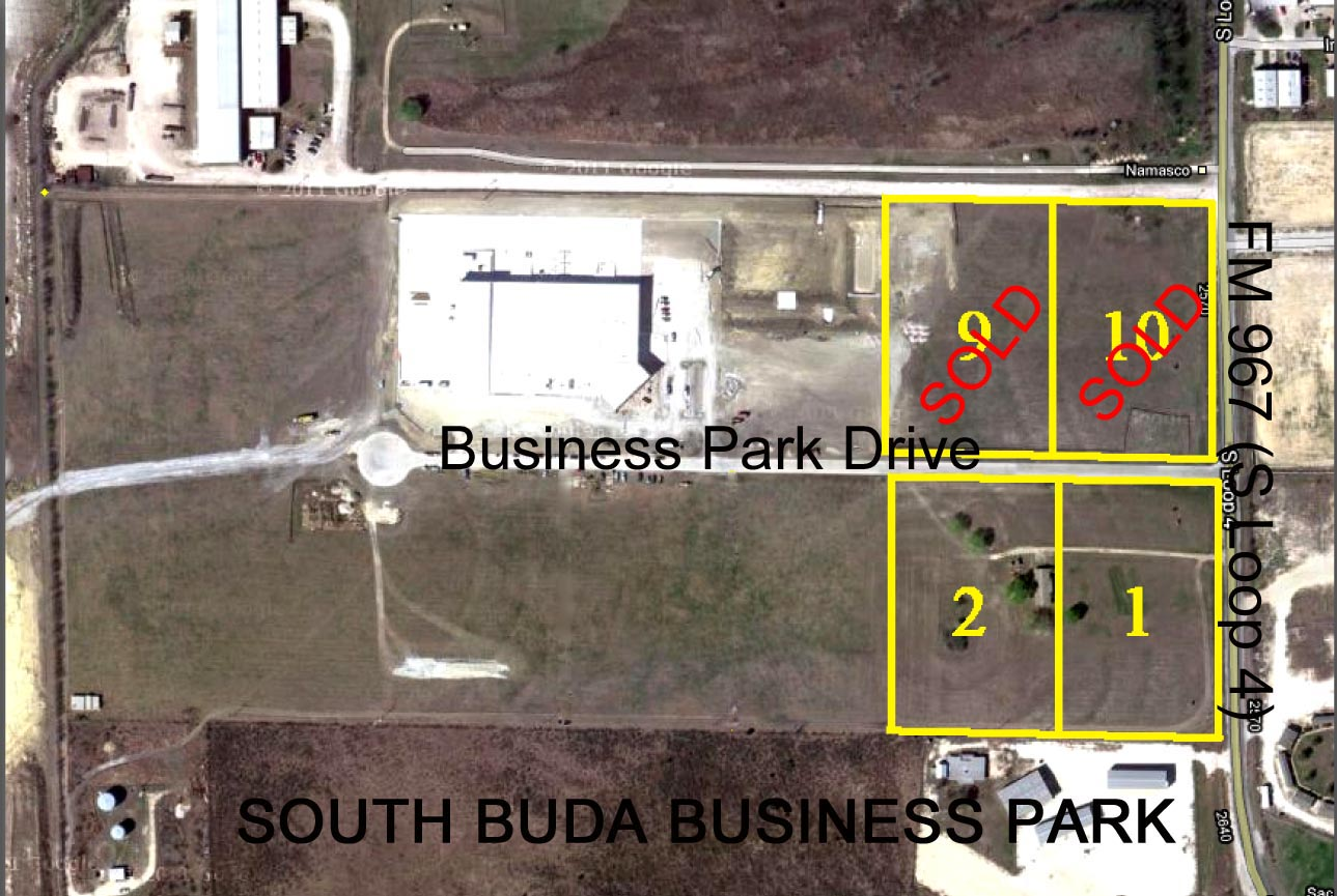 South Buda Business Park Lot Sold