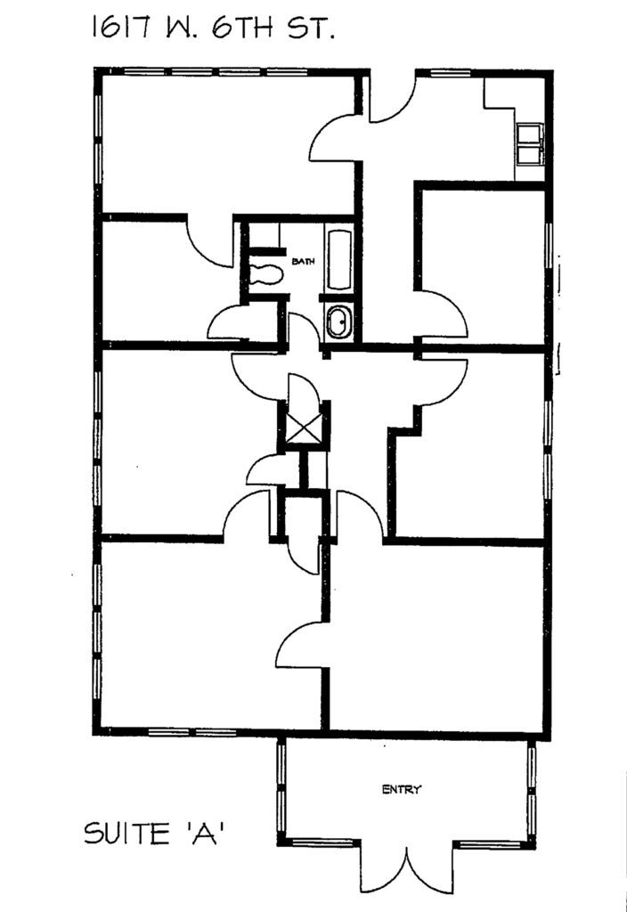 Floor Plan 1617 A W 6th
